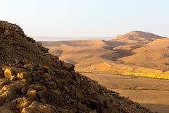 Monte la opinión del barranco de la cumbre de Arif, paisaje del sur de Israel Foto de archivo libre de regalías
