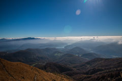 从monte lema山顶的看法  库存图片