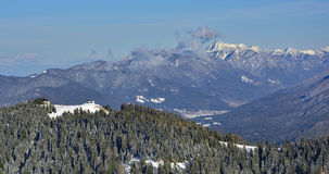 从Monte Lussari的看法 免版税图库摄影