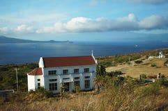 Monte Maria Church som förbiser öhavet Arkivbild