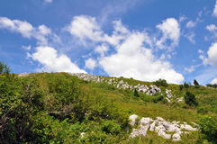 Monte Matajur in the Julian Alps Stock Image
