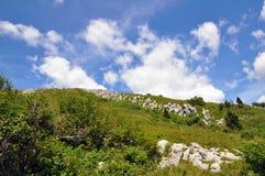 Monte Matajur nelle alpi di Julian Immagine Stock