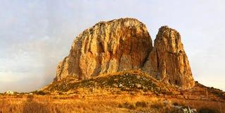 Monte Monaco in San Vito lo Capo. Monte Monaco rock in San Vito lo Capo, Sicily, Italy Royalty Free Stock Photo
