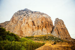 Monte Monaco in San Vito lo Capo stock image