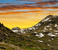 Monte Moro pass in Swiss Alps Royalty Free Stock Photo