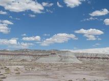Monte no deserto pintado Imagens de Stock
