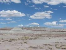 Monte no deserto pintado Imagem de Stock Royalty Free
