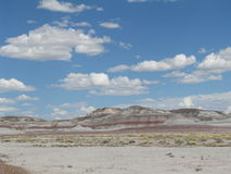 Monte no deserto pintado Fotografia de Stock Royalty Free