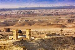 Monte novo Bethany Beyond Jordan do ` s de Elijah das igrejas imagem de stock royalty free