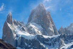 Monte o fitz Roy no EL Chalten, parque nacional do Los Glaciares em Arg fotografia de stock