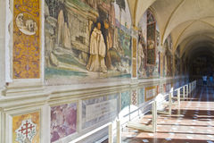 Monte Oliveto Abbey en Toscana Imagen de archivo