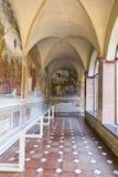 Monte Oliveto Abbey i Tuscany Royaltyfria Foton