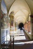 Monte Oliveto Abbey i Tuscany Arkivfoton