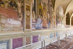 Monte Oliveto Abbey i Tuscany Royaltyfria Bilder