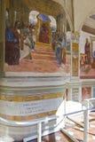 Monte Oliveto Abbey i Tuscany Arkivbilder