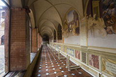Αβαείο Monte Oliveto Maggiore, Τοσκάνη, Ιταλία Στοκ φωτογραφία με δικαίωμα ελεύθερης χρήσης