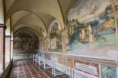 Monte Oliveto Maggiore,托斯卡纳,意大利修道院  免版税图库摄影