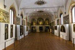 Monte Oliveto Maggiore,托斯卡纳,意大利修道院  库存图片