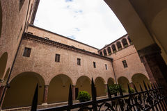 Аббатство Monte Oliveto Maggiore, Тосканы, Италии Стоковые Изображения RF