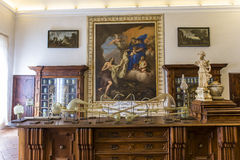 Аббатство Monte Oliveto Maggiore, Тосканы, Италии Стоковое Изображение RF