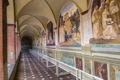 Αβαείο Monte Oliveto Maggiore, Τοσκάνη, Ιταλία Στοκ Εικόνες