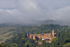Monte Oliveto Maggiore Royalty Free Stock Photos