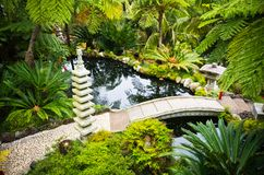 Monte Palace Tropical Garden in Funchal, Madeira Island royalty free stock image