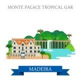 Monte Palace Tropical Garden in vecto piano del Madera Immagini Stock Libere da Diritti