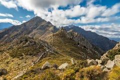Monte Parteo in den Bergen von Balagne-Region von Korsika Lizenzfreie Stockfotos
