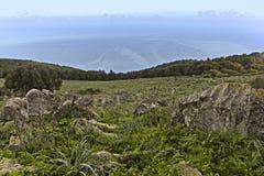Monte Pellegrino横向 免版税图库摄影