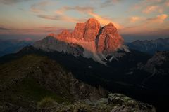 Monte Pelmo, Dolomiet Italië Stock Foto's