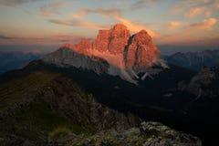 Monte Pelmo, Dolomit Italien stockfotos