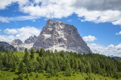 Free Monte Pelmo Isolated Peak In The Dolomites, Italy. Alps Landscap Stock Photos - 124348663