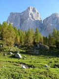Monte Pelmo. Sunny day in Italian Dolomites Royalty Free Stock Image