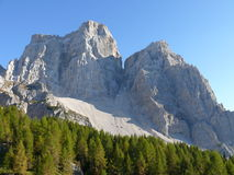 Monte Pelmo. Sunny day in Italian Dolomites Royalty Free Stock Photography