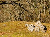 Monte pequeno em Fontecerro Rieti Itália Fotos de Stock