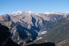 Monte Perdido в национальном парке Ordesa, Уэске. Испания. стоковые фотографии rf