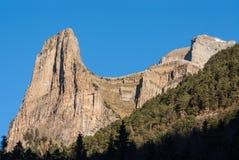 Monte Perdido в национальном парке Ordesa, Уэске. Испания. стоковая фотография