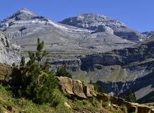 Monte Perdido. And Ordesa Canyon Natinal Park, in Pyrenees, Spanish Stock Photo