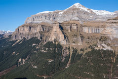 Monte Perdido in Ordesa National Park, Huesca. Spain. Royalty Free Stock Images