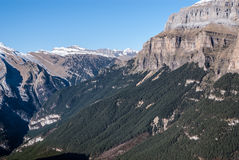 Monte Perdido in Ordesa National Park, Huesca. Spain. Stock Photos