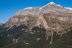 Monte Perdido in Ordesa National Park, Huesca. Spain. Royalty Free Stock Photos