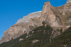 Monte Perdido in Ordesa National Park, Huesca. Spain. Royalty Free Stock Photography