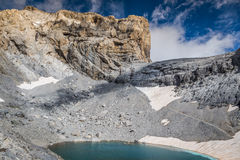 Monte Perdido in Ordesa National Park, Huesca. Spain. Royalty Free Stock Photos