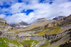 Monte Perdido Valle de Ordesa no circo Pyrenees Huesca de Soaso Fotografia de Stock Royalty Free