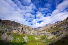 Monte Perdido Valle de Ordesa in Soaso circus Pyrenees Huesca Royalty Free Stock Image