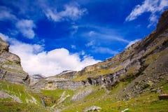 Monte Perdido Valle de Ordesa in Soaso circus Pyrenees Huesca Royalty Free Stock Images