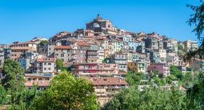 Monte Porzio Catone, comune en la ciudad metropolitana de Roma en la región italiana central Latium, Italia imagen de archivo