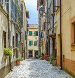 Monte Porzio wioska Obrazy Stock