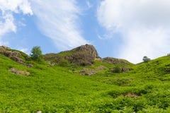 Monte que negligencia o distrito Cumbria Inglaterra Reino Unido do lago Blea Tarn entre grande Langdale e pouco Langdale Imagem de Stock Royalty Free